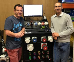 Picture of WL's operational business systems manager, Jamie Wells and Quality manager, Paul Talbot, with the fully integrated 660 QC-Check workstation.